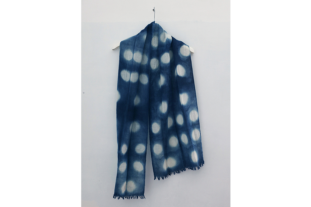 Foulard en laine Indigo - 40 cm x 180 cm