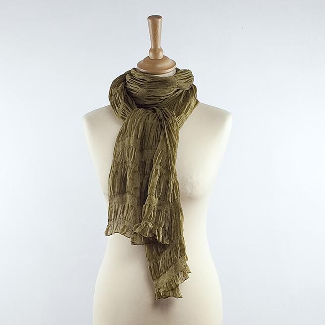 Foulard en soie plisée plusieurs coloris   Harumi Art Textile 198ff42175b